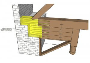 An image showing the illustration and design of structural work carried out on the roof of the Lalit Hotel in London