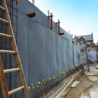 An image showing external work being carried out on The Dickson Poon China Centre, St Hugh's College, University of Oxford