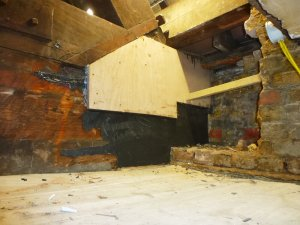 An image showing an attic that has undergone water and damp proofing to prevent mould and damp