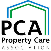 An image showing the PCA logo in black font and a green ans blue outline of a house