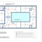 An image showing a drawing of indicative drainage layout plans to ensure damp proofing of a basement