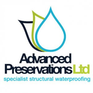 An image showing the advanced preservations logo in blue, black and green colours