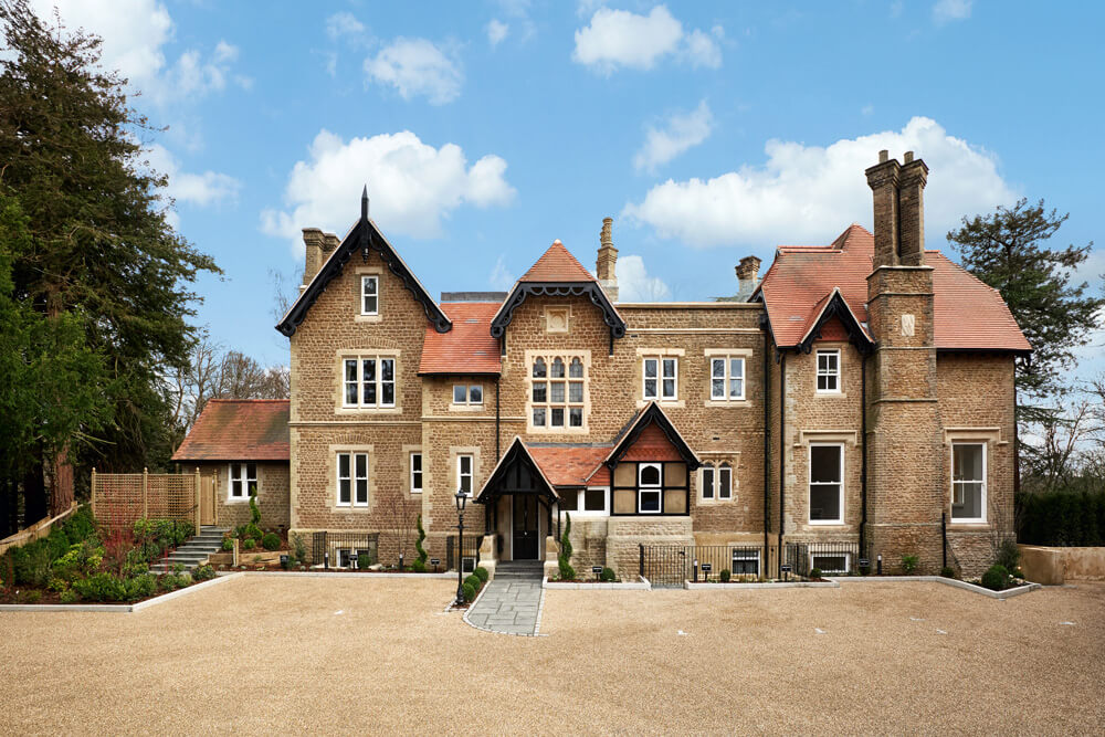 An image showing the front exterior of the Langton Priory